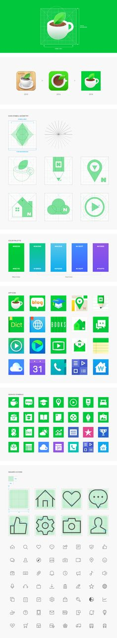NAVER SQUARE ICON on Behance