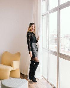 Botas extralargas para este invierno en www.santorini.com.co Santorini, Leather Skirt, Instagram, Skirts, Style, Fashion, Templates, Color Combinations, Boots