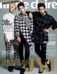 JYJ on Marie Claire magazine August 2014 edition.