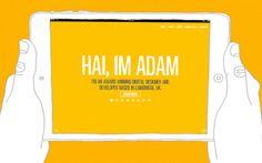 Adam Hartwig #webdesign #inspiration #UI #Clean #Minimal #Flexible #Illustration #Animation #HTML5 #White #Yellow