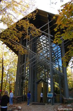 Thorncrown Chapel. I have been here,  it is awesome and a must see if you are in the area.