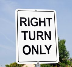 Right Turn Only Sign