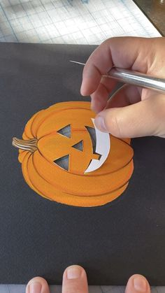 Painting and Caving a Pumpkin by Philip Boelter Painting and Caving a Pumpkin by Philip Boelter Boelter Design Co PhilipBoelter Art Illustration Try out this fun nbsp hellip videos gezeichnet Mummy Crafts, Halloween Crafts For Kids, Halloween Activities, Pumpkin Art, Pumpkin Crafts, Pumpkin Carving, Carving Pumpkins, Pumpkin Painting, Halloween Painting