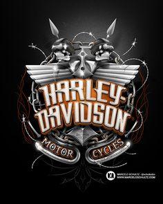 Harley-Davidson Designs on Behance ★ Find more at http://www.pinterest.com/competing/