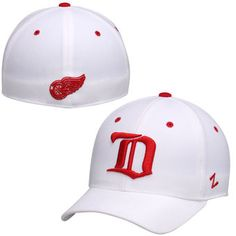 Detroit Red Wings Zephyr Alternate Crosscheck Fitted Hat – White
