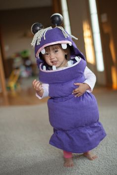 20 Infant Halloween Costumes Ideas To Try  sc 1 st  Pinterest & Sweet Little DIY Monsters Inc. Boo Costume for a Toddler | Pinterest ...