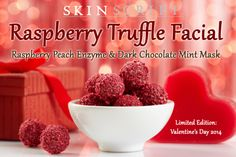 Raspberry Truffle Facial 2014 Delight your clients with this remarkable treatment that not only hydrates dry winter skin but is a treat for the senses as well! The Raspberry Peach enzyme is packed with antioxidants for an anti-aging facial for all skin types. Cocoa is used to impart moisture for dehydrated skin.