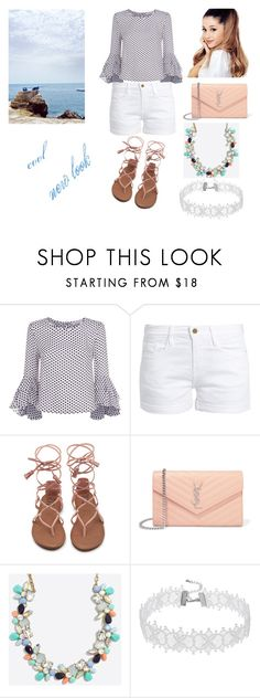 """my new look"" by anitaberisha3 ❤ liked on Polyvore featuring Milly, Frame and Yves Saint Laurent"