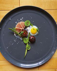 Tuna. Quail's egg