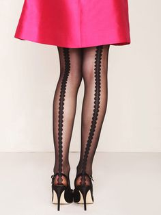 I've been looking for hosiery with a back seam - this takes it to the next level!  I LOVE Kate Spade!