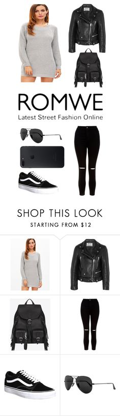 """Untitled #764"" by gigi3646 ❤ liked on Polyvore featuring Acne Studios, Yves Saint Laurent, New Look, Vans and Ray-Ban"
