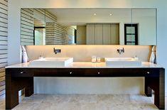 Sleek modern bathroom