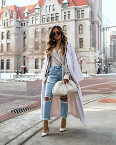 There are so many denim trends to be excited about this spring. I broke down all the best denim to buy now from jeans to cutoff shorts and jackets. 30 Outfits, Casual Outfits, Fashion Outfits, Womens Fashion, Fashion Trends, White Outfits, Fashion Styles, Fashion Clothes, Fashion Fashion