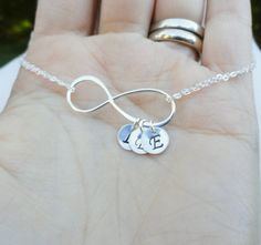 Personalized Mothers necklace Silver Infinity by BriguysGirls