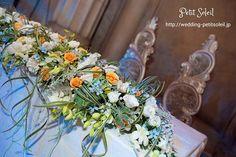 メインテーブル装花 海をイメージした装花 wedding table flower