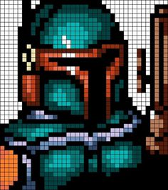 Boba Fett - Star Wars  / Bügelperlen