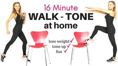 WALK AT HOME  WEIGHT LOSS WORKOUT AND FULL BODY CHAIR EXERCISE - IDEAL F...