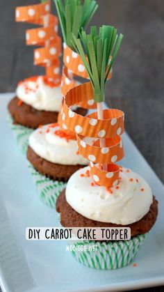 Hoppy Easter, Easter Eggs, Spring Recipes, Holiday Recipes, Cook Up A Storm, Easter Party, Easter Treats, Carrot Cake, Cupcake Toppers