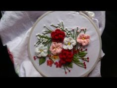 Hand embroidery. Brazilian embroidery. Embroidery for cushions. - YouTube