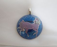 Midnight - Unicorn Resin Pendant by KixxCreations on Etsy