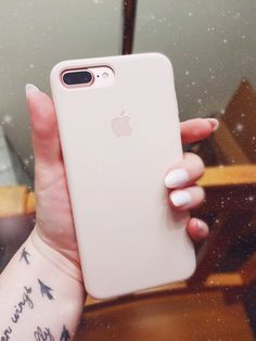 Apple Pink Sand case, iPhone, 7 plus, rose gold, tech, nails