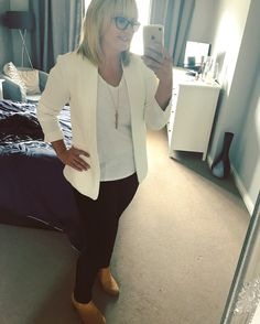Cinema date. Monochrome is always in. H&M jacket to dress up a tee and jeans