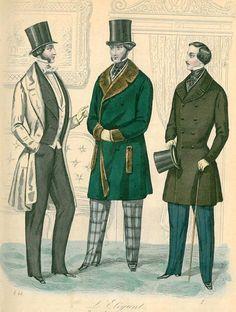 Victoriana | El TRAJE BURGUÉS MASCULINO. LA ERA VICTORIANA. PARTE I (1840-1860 ...