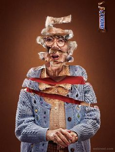 Advertising Campaign : Snickers: Granny Advertising Campaign Inspiration Snickers: Granny Advertisement Description Snickers: Granny Don't forget to share the post, Sharing is caring ! Funny Advertising, Funny Ads, Advertising Poster, Advertising Campaign, Guerrilla Advertising, Ads Creative, Creative Advertising, Advertising Design, Advertising Ideas