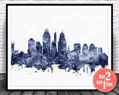 BIG SALE: Cincinnati skyline Cincinnati Ohio by CarmaZoe on Etsy