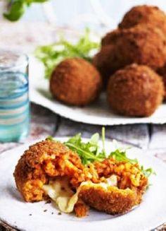 Low FODMAP & Gluten free Recipe - Margherita risotto balls http://www.ibssano.com/low_fodmap_recipe_margherita_risotto_balls.html