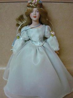 RARE Beautiful Victorian Porcelain Bride Doll Vintage Porcelain Dolls, Bride Dolls, Never Grow Up, Flower Girl Dresses, Victorian, Wedding Dresses, Beautiful, Collection, Fashion