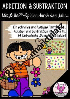 BUMP! - Addition und Subtraktion bis 20. Tolle Spielfelder für ein ganzes Kalenderjahr