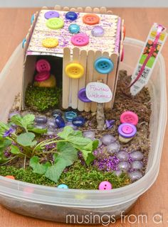 So doing this in the summer with the girlies! Fairy House Kids Craft
