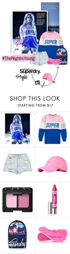"""The Night isYoung"" by lacas ❤ liked on Polyvore featuring Superdry, NARS Cosmetics, Clinique and thenightisyoung"