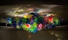 """Dale Chihuly,  MULTI-COLORED PERSIAN AND HORN CHANDELIER,  composed of over 200 pieces, 35"""" high x 136"""" long x 80"""" wide,  Original price in 2006 was 350,000usd,  Offered now for 270,000usd plus installation"""
