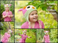 Beautiful Crochet owl hat! Just $4.25 there is also minnie and boys colors!!~ http://www.fitzthumboutique.com/