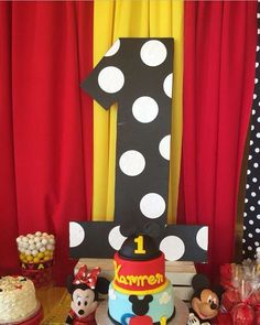 Awesome Mickey Mouse birthday party! See more party ideas at CatchMyParty.com!