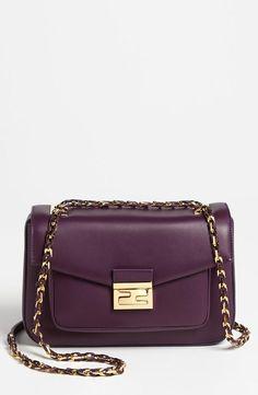 On the wishlist! Purple Fendi 'Be' leather baguette.