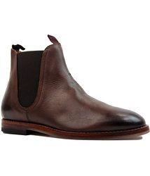 Tamper H BY HUDSON Mod Leather Chelsea Boots in dark brown: http://www.atomretro.com/20175 #hbyhudson #tamper #boots #chelseaboots #dealerboots #atomretro #mensfootwear #mensfashion #mensstyle #mensstyleblog