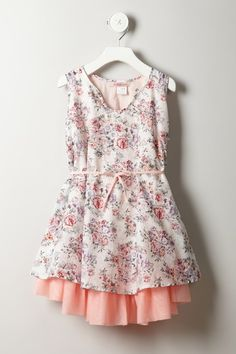 Floral Dress.  I love the bottom of it!
