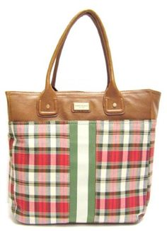 Tommy Hilfiger Large Tommy Tote in Ivory, Green, « Clothing Impulse