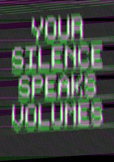 """Your Silence Speaks Volumes"" by Melvin Galapon Glitch Art, Vaporwave, Silence Speaks Volumes, Alexander Graham Bell, Ex Machina, Sound Waves, Grafik Design, Mindfulness, Inspiration"