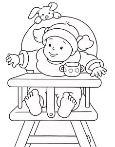 Print Coloring Page | Baby Shower | Pinterest | Babies, Stamps And  Embroidery