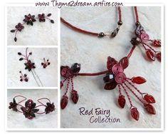 garnet red wedding jewelry- so pretty! $65