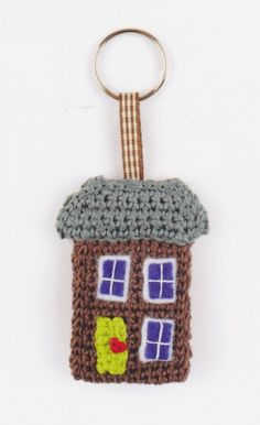 Keychain  house crochet