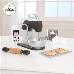 KidKraft Children's Baking Set - Espresso Role Play Toys for The Kitchen Play Kitchens, Play Kitchen Sets, Toy Kitchen, Kitchen Tools, Kitchen Decor, Childrens Baking, Play Kitchen Accessories, Four Micro Onde, Little Chef