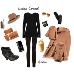 Posh--Luscious Caramel style! I would SO love to own this outfit and wear it to travel to Europe in! :-)