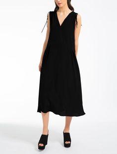 Max Mara ARTELLO black: Silk crêpe de chine dress.