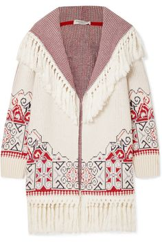c743ed6dd34d Philosophy di Lorenzo Serafini - Hooded tasseled cotton-blend jacquard  cardigan
