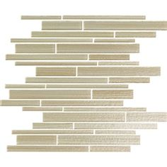 Bellavita Cashmere - CMML Mountain Lion - Textured Hand Brushed Linear Strip Glass Tile Mosaic * SAMPLE *